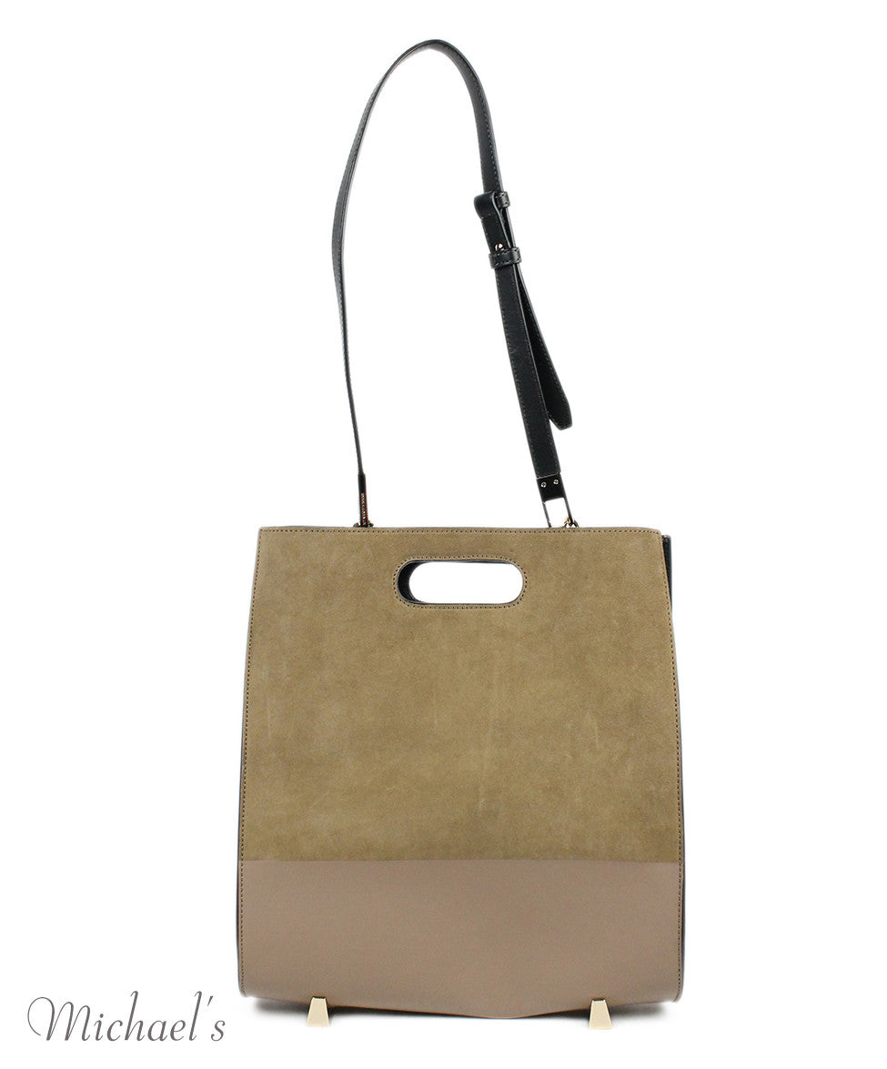 Alexander Wang Chastity Taupe Black Nubuck Leather Tote w/ Case - Michael's Consignment NYC  - 9
