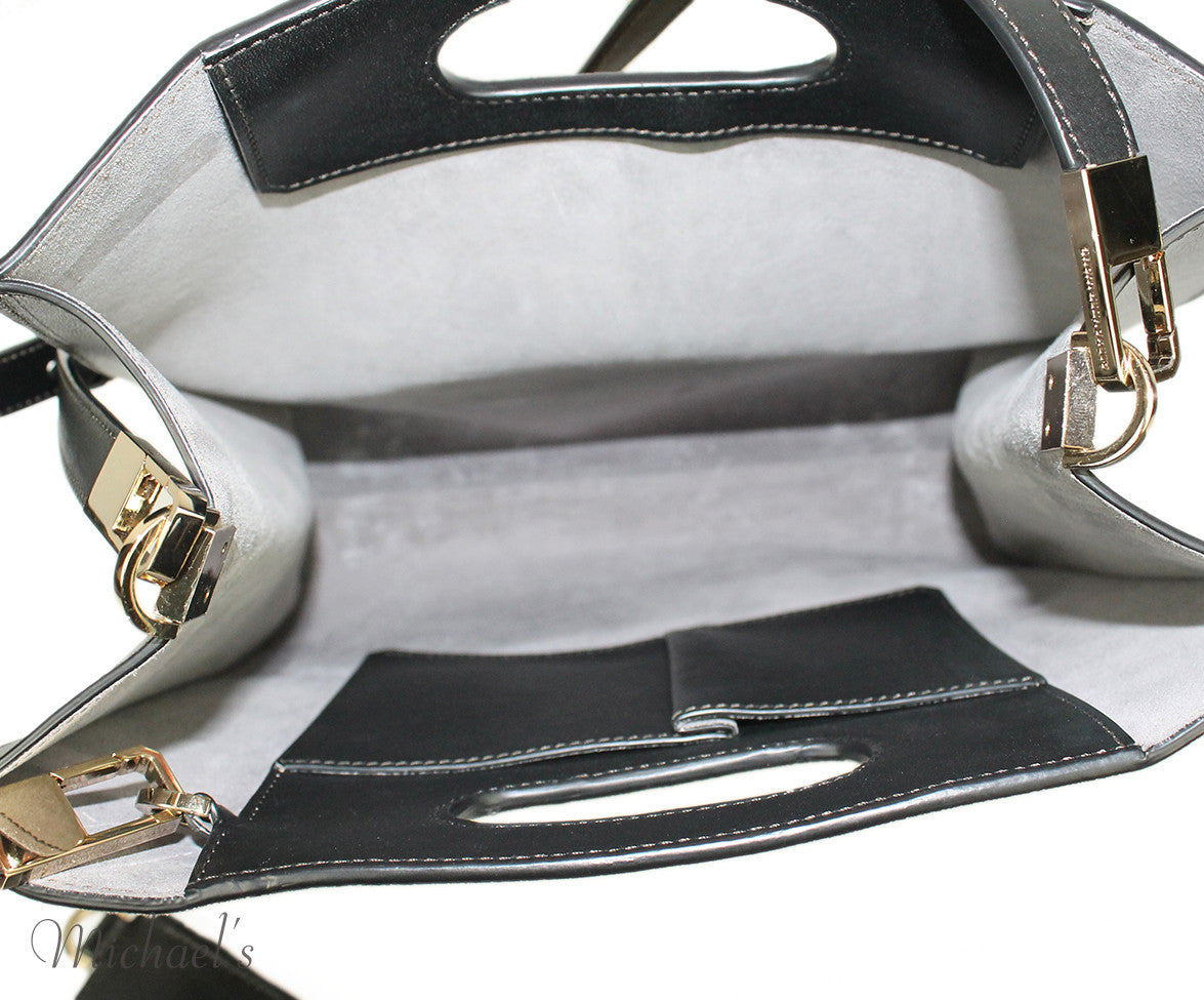 Alexander Wang Chastity Taupe Black Nubuck Leather Tote w/ Case - Michael's Consignment NYC  - 14