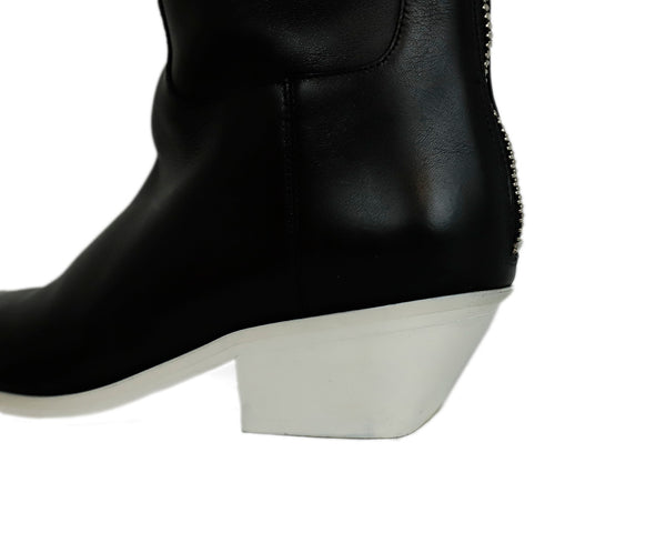 Alexander Wang US 9 Black Brown Leather White Trim W/Dust Bag Boots 8