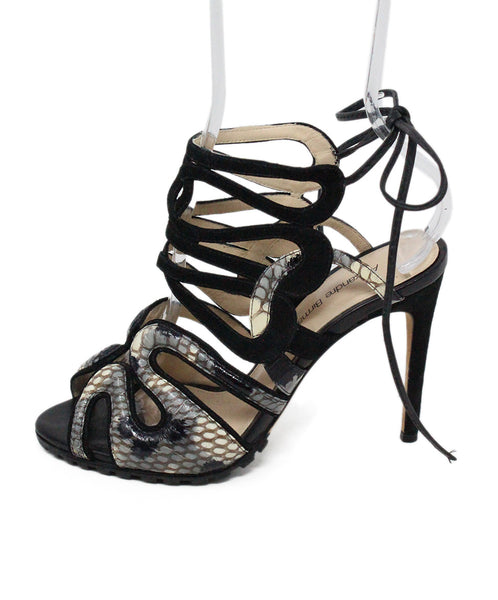 Alexandre Birman Black Suede and Leather Sandals 2