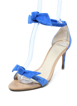 Alexander Birman Blue Suede Sandals 1