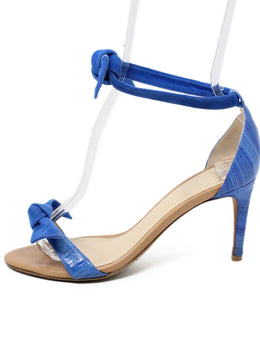 Alexander Birman Blue Suede Sandals 2