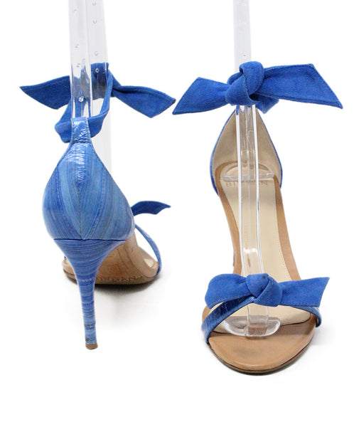 Alexander Birman Blue Suede Sandals 3