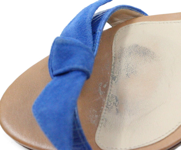 Alexander Birman Blue Suede Sandals 7