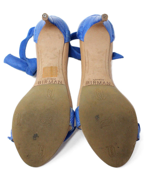 Alexander Birman Blue Suede Sandals 4