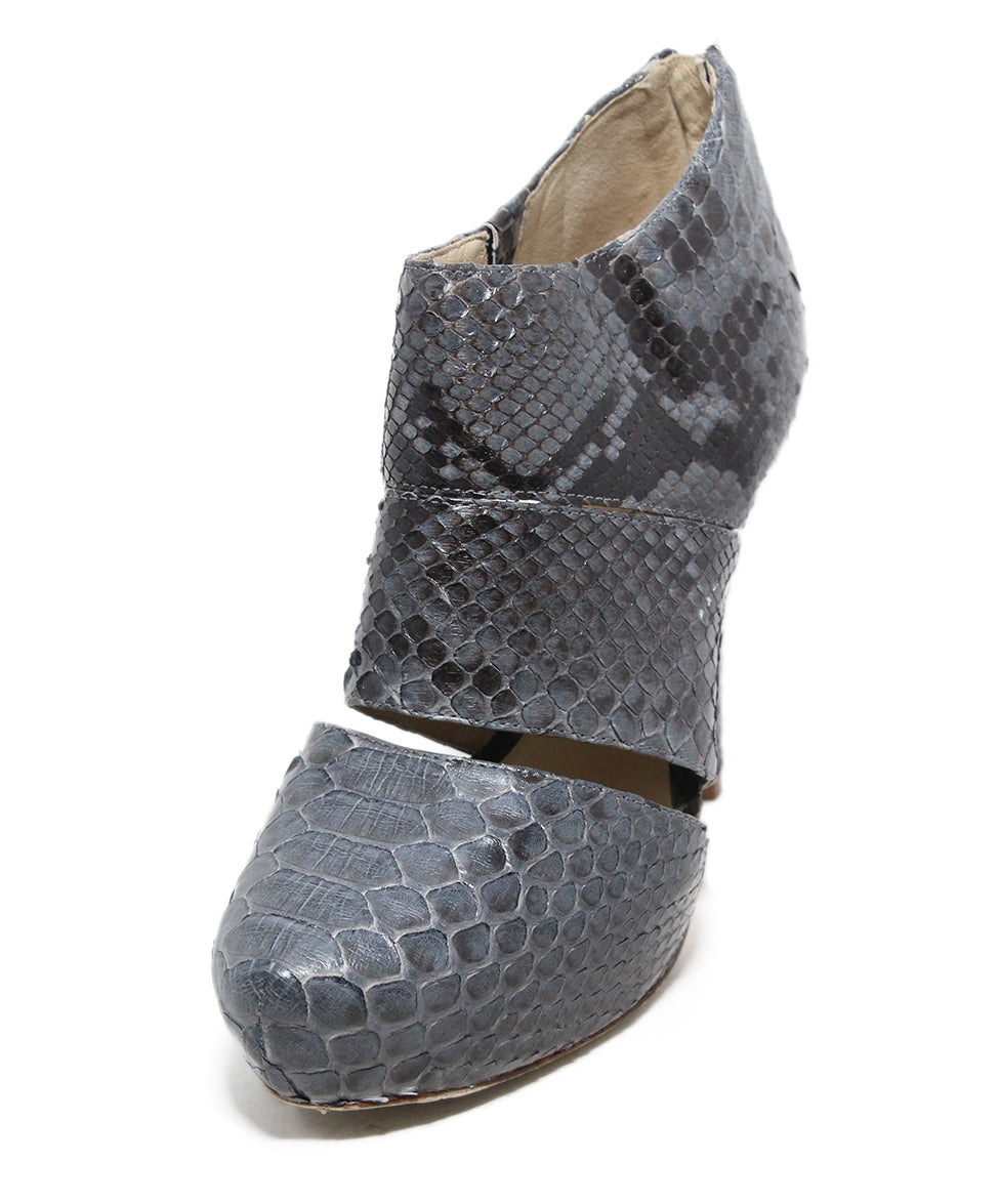 Alexandre Birman Grey Python Shoes 1