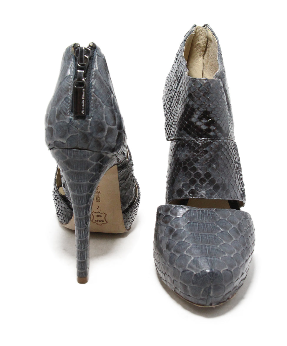 Alexandre Birman Grey Python Shoes 3
