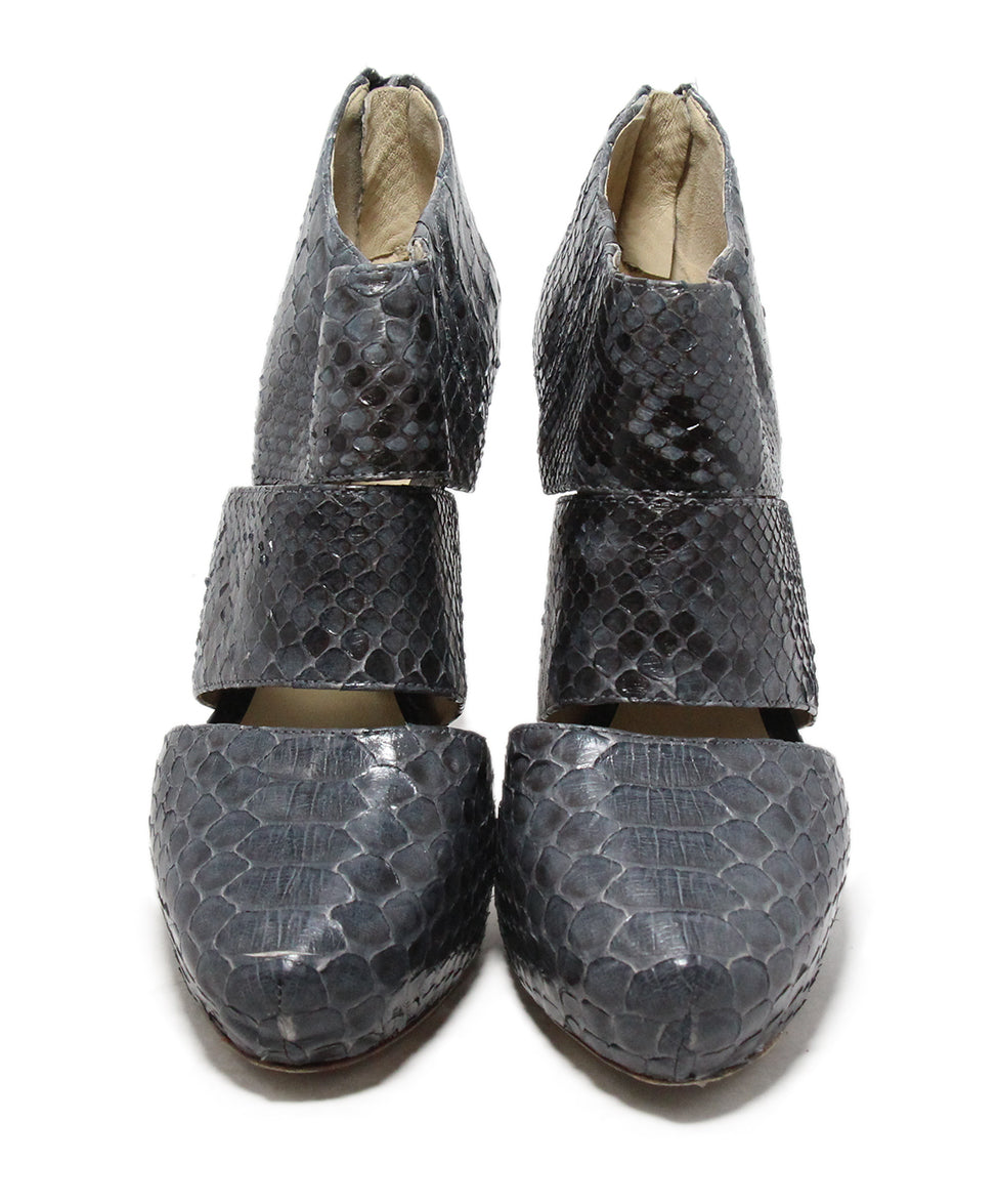 Alexandre Birman Grey Python Shoes 4