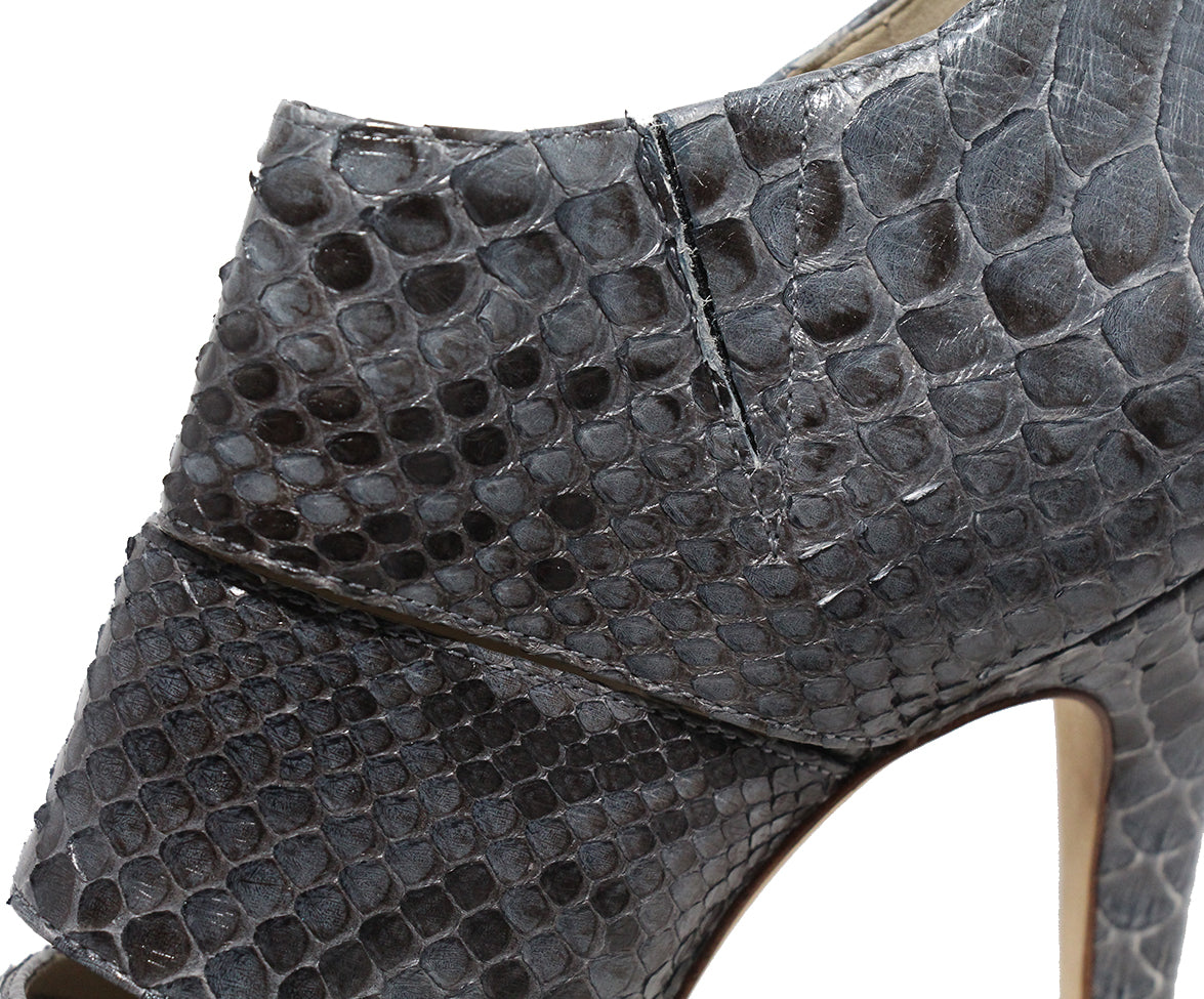 Alexandre Birman Grey Python Shoes 8