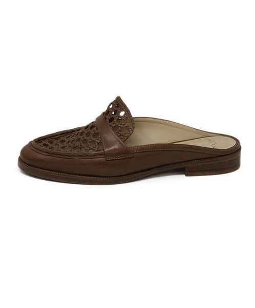 Alexandre Birman Brown Leather Mules 1