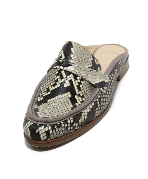 Alexandre Birman brown white snake skin mules 1
