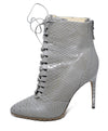 Alexandre Birman Grey Taupe Python Lace Up Booties 2