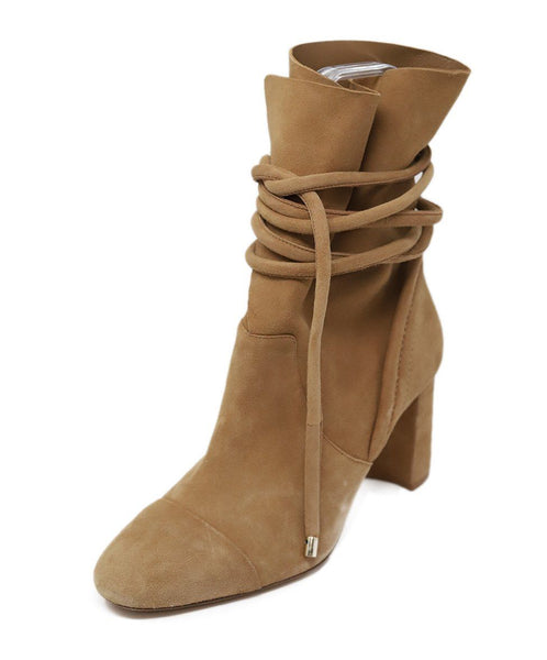 Alexandre Birman Tan Suede Leather Boots 39