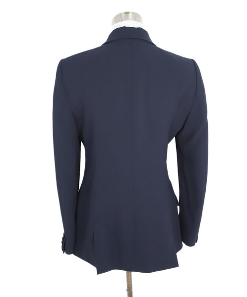 Alexis Mabille Navy Acrylic Cotton Jacket 3