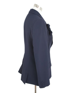 Alexis Mabille Navy Acrylic Cotton Jacket 2
