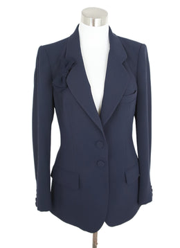 Alexis Mabille Navy Acrylic Cotton Jacket 1