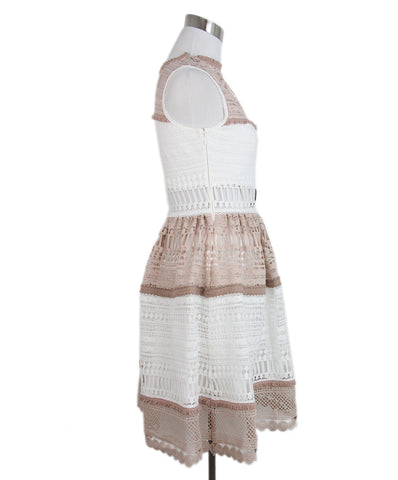 Alexis white nude cotton dress 1
