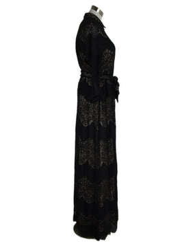 Alice+Olivia Black Lace Long Dress sz. 8 | Alice + Olivia