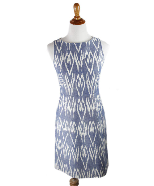 Alice+olivia Blue White Cotton Dress Sz 8