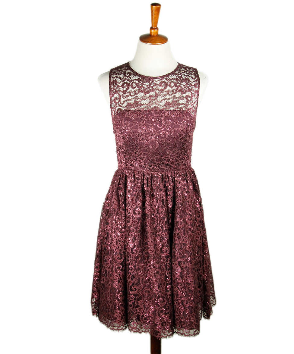 Alice+Olivia Plum Lace Dress Sz 4