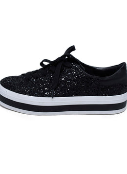 Alice + Olivia Black Glitter White Sneakers 2