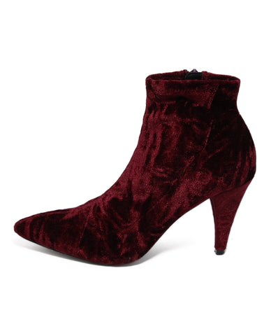 Alice and Olivia Red velvet boots 7