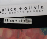 Alice + Olivia Black Multi Color Floral Pants 3