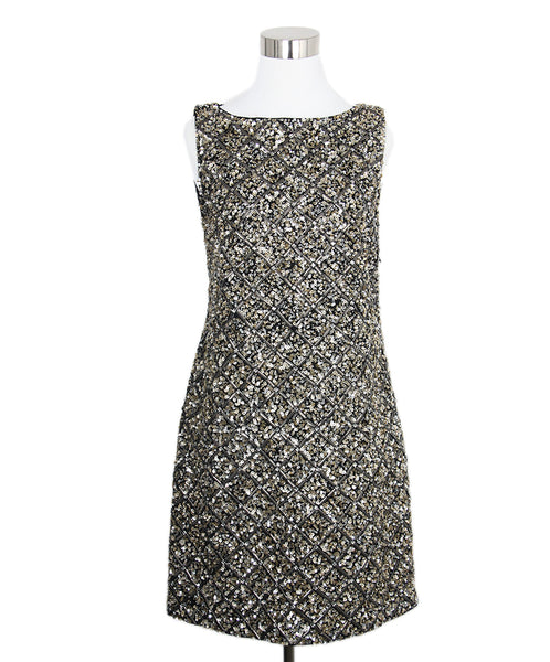 Alice + Olivia Gold Sequins Dress 1