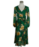 Alice + Olivia Green Floral Dress 1