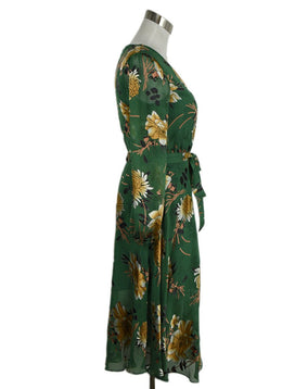 Alice + Olivia Green Floral Dress 2