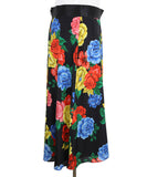 Alice + Olivia Black Floral Multi Color Silk Skirt 2