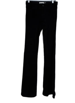 Alice + Olivia Black Suede Bell Bottom Flare Pants 1