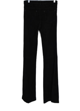 Alice + Olivia Black Suede Bell Bottom Flare Pants 2