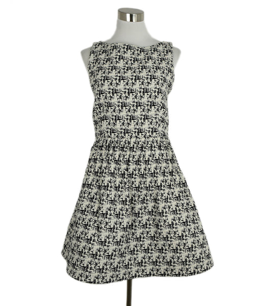 Alice + Olivia Black White Wool Dress 1