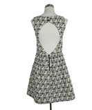 Alice + Olivia Black White Wool Dress 3