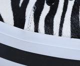 Alice + Olivia Black White Zebra Fur Sneakers 6