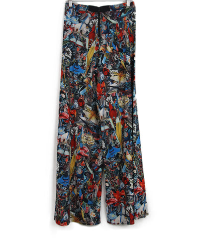 Alice + Olivia blue red bird print pants 1