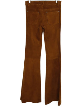 Alice + Olivia Tobacco Suede Bell Bottom Pants 2