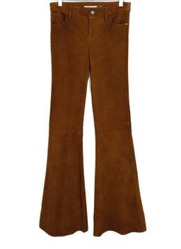 Alice + Olivia Tobacco Suede Bell Bottom Pants 1