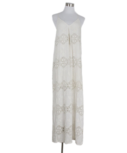 Alice + Olivia Ivory Cotton Eyelet Maxi Dress 1