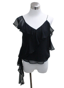 Alice + Olivia Black Silk Top