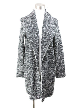 Alice + Olivia Black White Cotton Polyester Coat 1