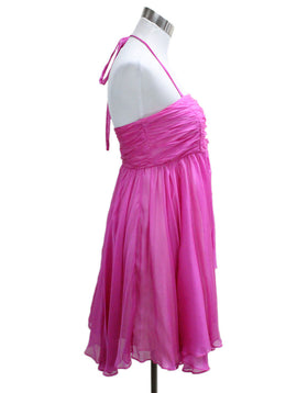 Alice + Olivia Pink Fuchsia Silk Chiffon Dress 1