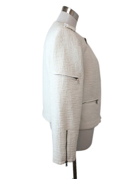 Alice + Olivia Size M Neutral White Cotton Polyester Jacket 2