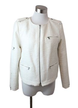 Alice + Olivia Size M Neutral White Cotton Polyester Jacket 1