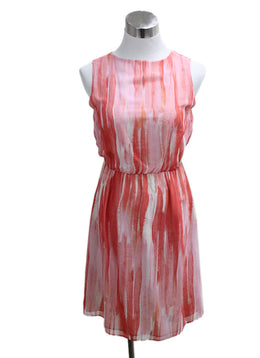 Alice + Olivia Pink Print Silk Dress