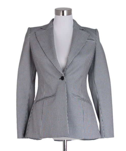 Altuzarra Black White Check Jacket 1