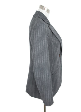 Altuzarra Grey Wool Pinstripes Jacket 2