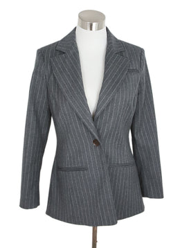 Altuzarra Grey Wool Pinstripes Jacket 1