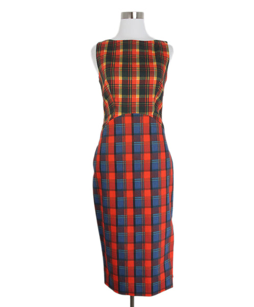 Altuzarra Orange Plaid Dress 1